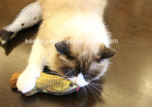 2017 New Highly Recommended Pet Plush Stuffed Cat Toy with Catnip (KB3008) pictures & photos