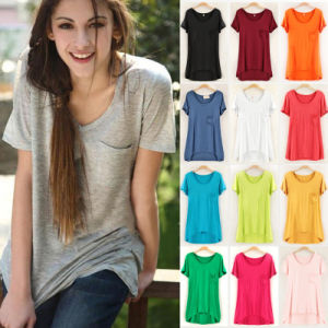 OEM Ladies Cheap T-Shirts Sport Short Sleeve T-Shirts pictures & photos