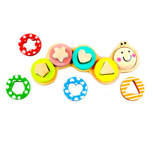 Wooden Caterpillar Shape Sorter Puzzle Toy for Kids and Children pictures & photos