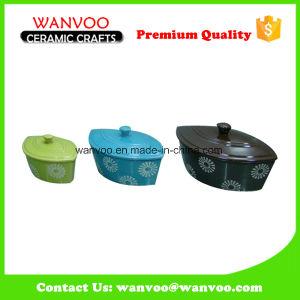 Various Design Ceramic Ramekins Baking Dish Bakeware Set with Different Sizes pictures & photos