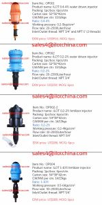 Ilot Water-Driven Fertilizer Injector for Irrigation Systems pictures & photos
