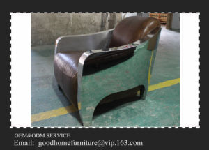 New Design Leather Stainless Steel Chair pictures & photos