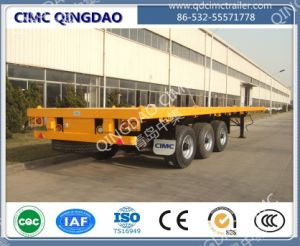 Cimc 40FT 2/3/4 Axle Flatbed Platmorm Flatbed Semi Truck Trailer Chassis pictures & photos