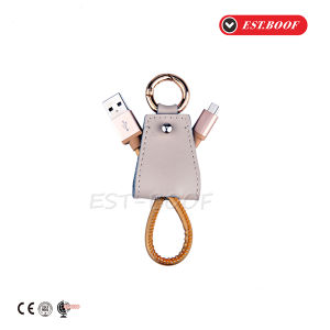 Leather Key Ring Mobile Phone Cable Keychain Phone Accessories pictures & photos