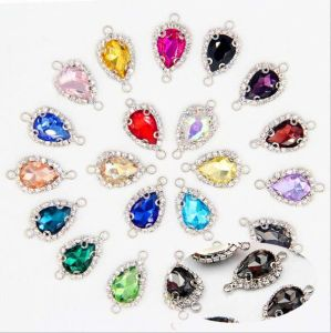 Wholesale Crystal Pendant Rhinestone Connector for Jewelry Making (TC-Drop 10*14) pictures & photos