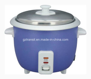 Drum Type Electric Rice Cooker with Glass Lid Kitchenware pictures & photos