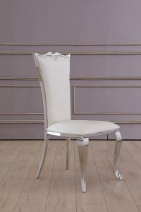 High Quality Hotel Furniture Silver Restaurant Dining Chair pictures & photos