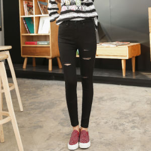 New Fashion Design Lady′s Skinny Jean pictures & photos
