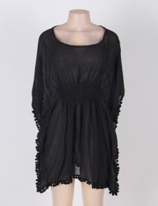 Black Batwing Sleeve Fashion Beach Dress pictures & photos