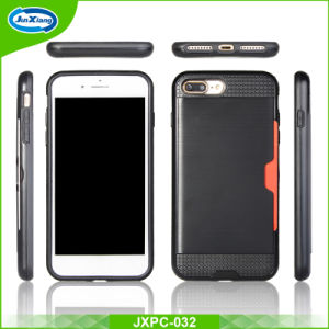 Wholesale Brushed Slim Armor TPU PC Case for iPhone 7 7 Plus Back Cover pictures & photos