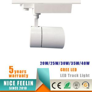 25W Black/White Housing CREE COB LED Track Spot Light pictures & photos