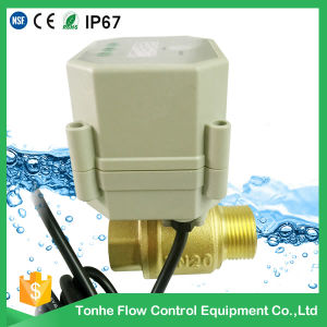 3/4′′ Dn20 Male-Female Thread Motorized Electric Ball Valve Timer Control Valve pictures & photos