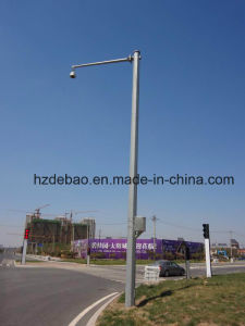 High Quality Galvanized Camera Steel Pole pictures & photos