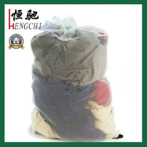 Rectangle Polyester Clothes Mesh Net Bags with Drawstring pictures & photos