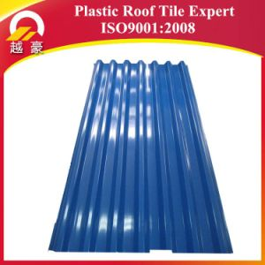3layers Fireproof Blue Plastic Roof Tile 1130mm