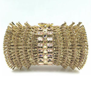 Custom Beaded&Rhinestone Clutch Bag High-End Women Evening Bags Party Handbag Make in China Leb890 pictures & photos