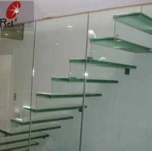 Building Glass Wall/Stairs 10mm Clear Float Tempered Glass pictures & photos
