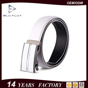 Low Price Auto Buckle Belt Genuine Leather Men Ratchet Belt pictures & photos