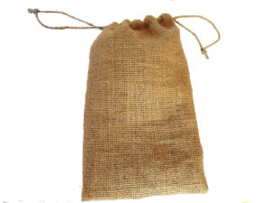Small Drawstring Jute Bag Wholesale pictures & photos