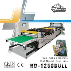 Zipper Bag Three-Side Bag-Making Machine Plastic Bag Machinehd-1250bull pictures & photos