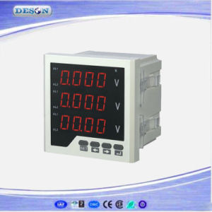 Panel Mounted Three Phase Electronic AC Voltage Meter pictures & photos