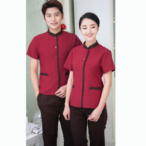 Wholesale OEM Service Hotel Room Service Cleaning Staff Uniforms Restaurant Uniforms pictures & photos