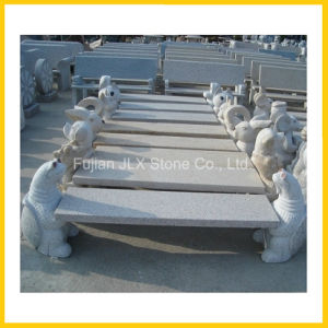 Granite Stone Garden Decor Carved Animal Bench pictures & photos