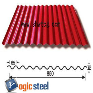 PPGI/PPGL Corrugated Roofing Sheet with CGCC, JIS G3312, Dx51d Grade pictures & photos
