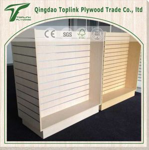 Slot Melamine Wall MDF Board pictures & photos