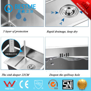 High Quality 304 Stainless Steel Kitchen Sink pictures & photos