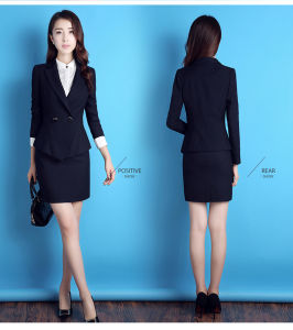 High Quality Fashion Double Breasted Suit Business Lady Blazer