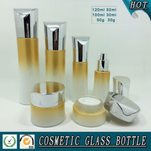 Luxury Cosmetic Empty Glass Lotion Bottle and Cosmetic Cream Jar pictures & photos