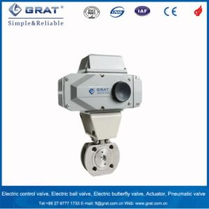 Rectangle Port Tiny Flow Motorized Control Ball Valve pictures & photos