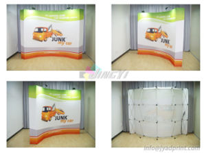 Convenient Recycling Combined Tension Fabric Printed POP UP Exhibition Display Stand pictures & photos