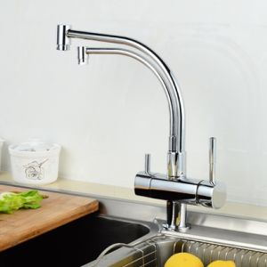 FLG Soild Brass 3 Way Tap Water Kitchen 2-Function Mixer Faucet pictures & photos