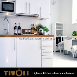 2 PAC Lacqeur White Kitchen Cabinet with Push Open Function (AP150) pictures & photos