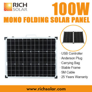 100W 12V Mono Folding Solar Panel for Home Use pictures & photos