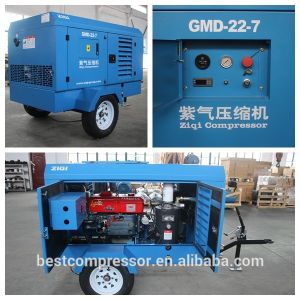 Moveable Diesel Driven Screw Air Compressor for Road pictures & photos