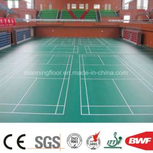 High Quality Indoor Green Leather Vinyl Sports Floor for Tennis Badminton 4.5m pictures & photos