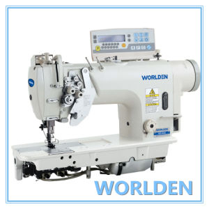 Wd-8452D Direct Drive High Speed Double Needle Lockstitch Sewing Machine pictures & photos