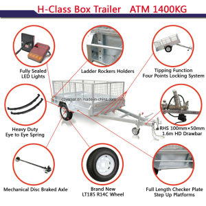ATM 1400 Checker Plate Box Trailer pictures & photos