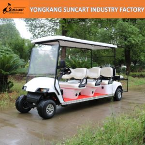 6+2 Person Electric Golf Cart, 8 Seater, with Rear Flip Seat, Ry-Ez-802D, Mini Sightseeing Bus pictures & photos
