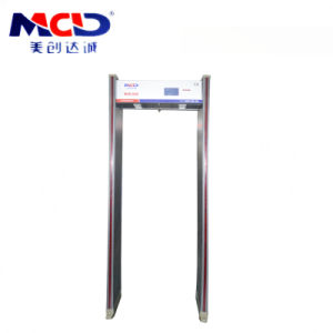 Security 6 Zones Walk Through Metal Detector Gate Mcd-600 in France Used for Airport / Station