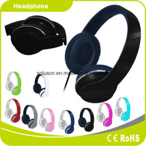 Black Colorful Customized Logo Perfect Sound Effect Music Headphone pictures & photos
