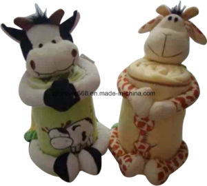 High Quality Soft Feeling Animal Camel Design Toy and Baby Fleece Blanket