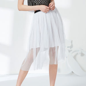 Ladies Fashion Pleated Chiffon and Mesh, Bust Skirt Dress pictures & photos