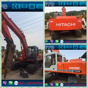 Used Hitachi Ex200-1 Excavator with Jack Hammer for Sale pictures & photos