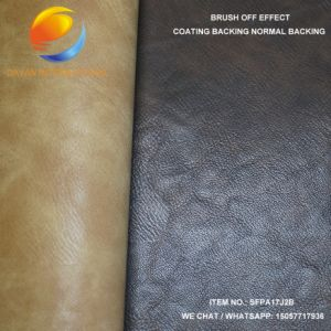 2017 Hot PU Coated Fabric with Emboss Brush off Effect pictures & photos