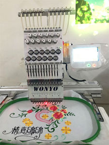 Computerized Cording Embroidery Machine Single Head T-Shirt Embroidery Machine- 12/15 Colors pictures & photos