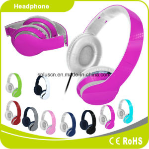 2017 New Hot Sale Deep Pink Computer Headphone MP3 Headphone pictures & photos